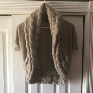 Theory wool vest/ shortsleeved sweater